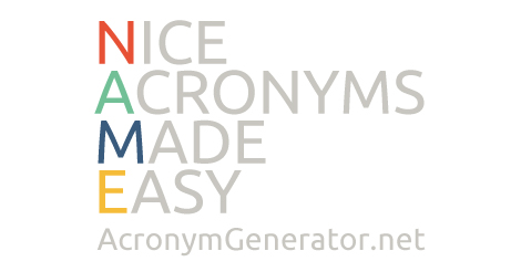 Acronym Generator from Letters